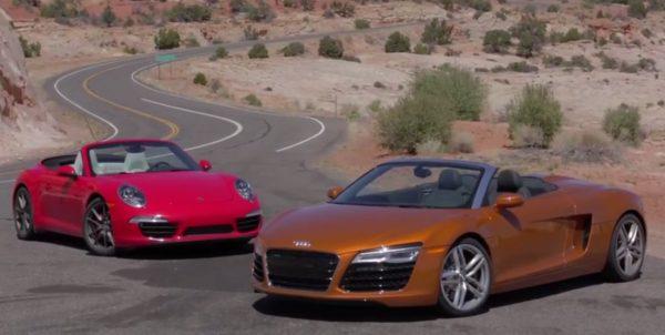 Audi R8 Spyder vs Porsche 911 Carrera S