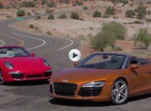 Audi R8 Spyder vs Porsche 911 Carrera S Cover