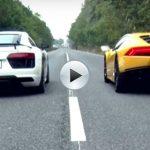 Audi R8 V10 plus vs Lamborghini Huracan LP 610-4