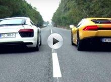 Audi R8 V10 plus vs Lamborghini Huracan LP 610-4 Cover