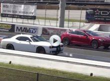 Challenger Hellcat vs Tesla Cover