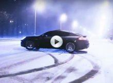 Porsche Panamera Snow Cover