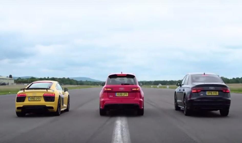 Audi R V Plus Vs Audi Rs Vs Audi S Drag Race - Audi r8 quarter mile