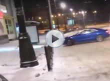Audi S5  Bus Stop Crash Cover