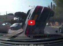 Audi Rollover Crash