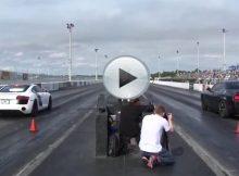 Dodge Challenger Hellcat vs Audi R8 V8 Cover