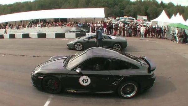 Porsche 911 vs Lamborghini Murcielago