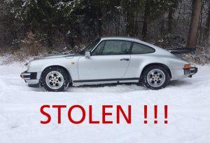 Stolen 1985 Porsche Carrera Side