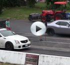 Challenger Hellcat vs Cadillac CTS-V