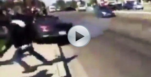 Porsche Driver Crashes Into a Crowd